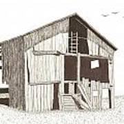 Ohio Barn Art Print by Pat Price