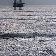 Oil Platform Art Print by Arno Massee