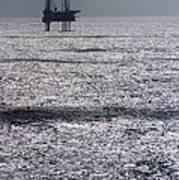 Oil Platform Art Print by Arno Massee