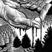 Oil Pollution Art Print by Bill Sanderson