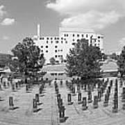 Oklahoma City National Memorial Black And White Art Print by Ricky Barnard