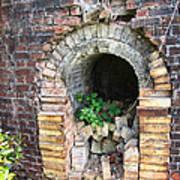 Old Antique Brick Kiln Fire Box Art Print