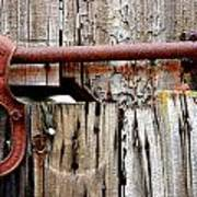 Old Barn Door Detail Art Print