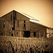 Old Barn In Indiana Art Print