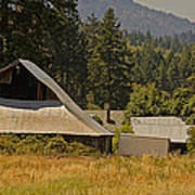 Old Barn On A Hot Summer Day In The Applegate Art Print