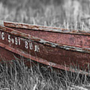 Old Boat Washed Ashore  Art Print