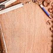 Old Carpentry Tools Art Print