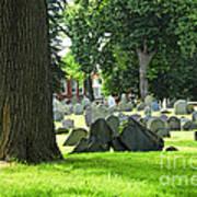 Old Cemetery In Boston Art Print by Elena Elisseeva