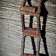 Old Chain And Barn Wood Art Print