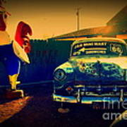 Old Chevrolet On Route 66 Art Print