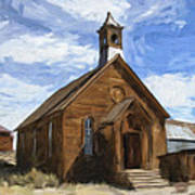 Old Church At Bodie Art Print