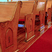 Old Church Pews Art Print by LeeAnn McLaneGoetz McLaneGoetzStudioLLCcom