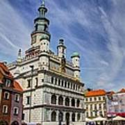 Old City Hall Clock Tower - Posnan Poland Art Print