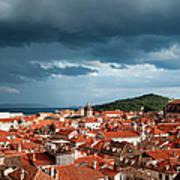 Old City Of Dubrovnik Art Print