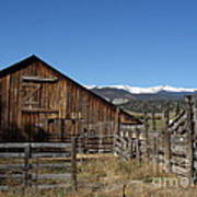 Old Colorado Barn Art Print by Donna Parlow