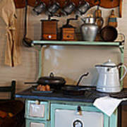 Old Cook Stove Art Print by Carmen Del Valle