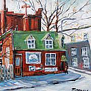 Old Corner Store Montreal By Prankearts Art Print