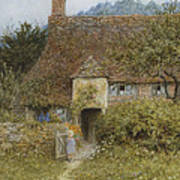 Old Cottage Witley Art Print