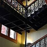 Old Courthouse Stairway Art Print