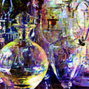 Old Decanters Art Print