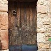 Old Door With Knocker Art Print