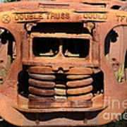 Old Double Truss Train Wheel . 7d12855 Art Print by Wingsdomain Art and Photography