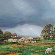 Old Farm - Monyash - Derbyshire Art Print