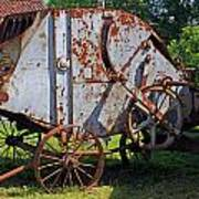 Old Farm Machine Art Print