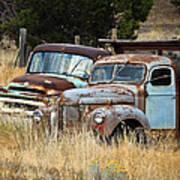 Old Farm Trucks Art Print
