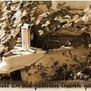 Old Fashion Thank You Card Art Print