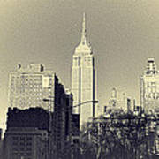Old-fashioned Empire State Building Art Print