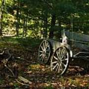 Old Frontier Wagon 1 Art Print