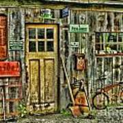 Old General Store Hdr Art Print