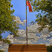 Old Glory Bench Print by Bill Tiepelman