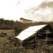 Old Hay Barn Art Print