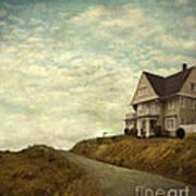 Old House On Rural Road Art Print