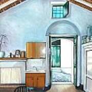 Old House Pisticci Art Print