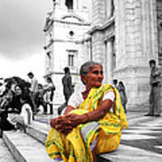 Old Indian Woman Art Print