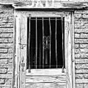Old Jailhouse Door In Black And White Art Print