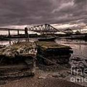 Old Jetty By The Bridge Art Print