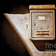 Old Mailbox With Doorbell Art Print