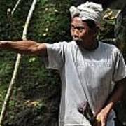 Old Man In Bali Art Print