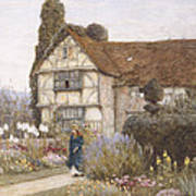Old Manor House Art Print by Helen Allingham