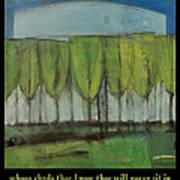 Old Men Plant Trees Proverb Art Print