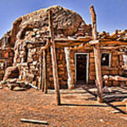 Old Navajo Stone House Art Print