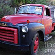 Old Nostalgic American Gmc Flatbed Truck . 7d9821 Art Print