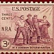 Old Nra Postage Stamp Art Print