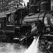 Old Number Three_climax Locomotive_durbin Wv _bw Art Print