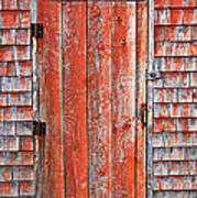 Old Orange Door  Art Print