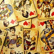 Old Playing Cards Art Print